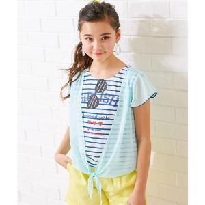 64dfc85a67d73 トップス・チュニック 重ね着風Tシャツ(女の子 子供服・ジュニア服) ニッセン nissen