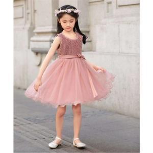 e6dc27ba0e03f ワンピース ドレス フォーマル キッズ リボンパーティ 女の子 子供服 ウェア スーツ 身長100 110 120 130cm ニッセン