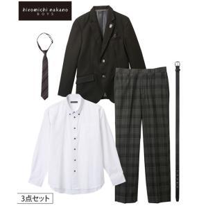 スーツ フォーマル キッズ ヒロミチナカノ 3点セット 男の子 子供服 ジュニア服 ウェア 身長14...