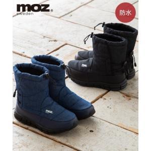 靴 レディース MOZ 防水 ブーツ ワイズ3E  22.5/23/23.5/24/24.5cm ニ...