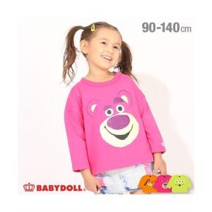 Tシャツ カットソー ベビー BABYDOLL ディズニー BIGフェイス ドルマン ロング 485...