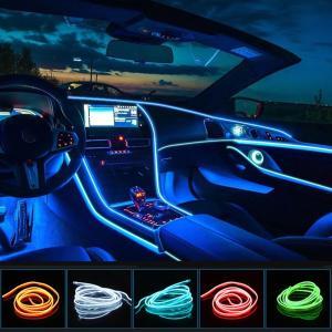LED有機ELワイヤーネオン LEDライト USB式 車内装飾用 防水 5m 車用イルミネーション ...