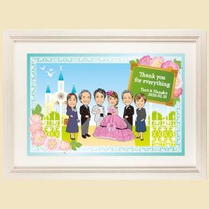 ファミリーボード サンクスボード 2枚セット FB07 似顔絵 両親プレゼント 贈答 送料無料 niteraseal