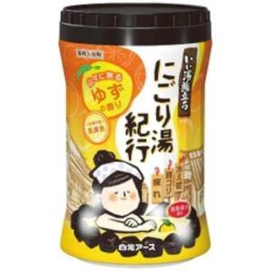 白元アース いい湯旅立ちボトル にごり湯紀行 ゆずの香り 600g【入浴剤】 nitizatu-ya