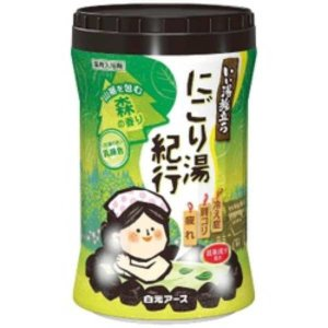 白元アース いい湯旅立ちボトル にごり湯紀行 森の香り 600g【入浴剤】 nitizatu-ya