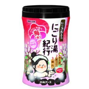 白元アース いい湯旅立ちボトル  にごり湯紀行 梅の香り600g【入浴剤】 nitizatu-ya