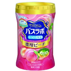 白元アース HERSバスラボボトル 濃厚ピーチの香り 640g【入浴剤】 nitizatu-ya
