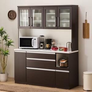 食器棚(レジューム 150TG-H DBR/150SL-R DBR) ニトリ 『配送員設置』 『5年保証』|nitori-net