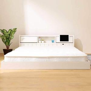 タブレット対応フラップ式シングルベッド(フラップシキ WH)  『配送員設置』『5年保証』|nitori-net