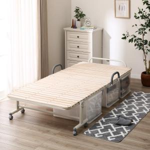 ■■ニトリ公式サイト■■  ベッド下を有効利用ハイタイプ折り畳みベッド(ベッド下に30cmまで収納可...