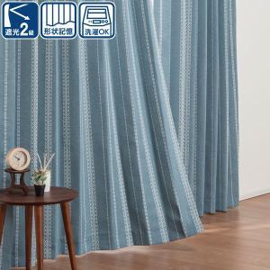 遮光2級カーテン(レユール ターコイズブルー 100X135X2) ニトリ 『玄関先迄納品』 『1年...
