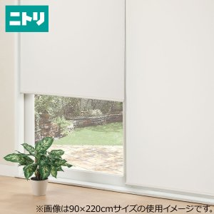 採光ロールスクリーン(アリエスWH 90X220) ニトリ 『玄関先迄納品』