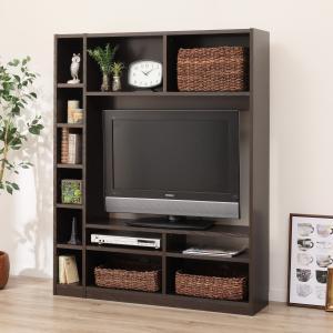 お部屋を広く見せるスリムタイプのテレビボード(Nウェルカー120 DBR) ニトリ 『送料有料・玄関先迄納品』 『1年保証』|nitori-net