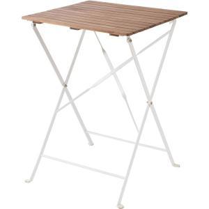 スチールアカシア折りたたみテーブル(QPC) ニトリ 『玄関先迄納品』|nitori-net