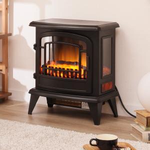 ミドルワイド暖炉型ファンヒーター(NI ブラック) ニトリ 『送料無料・玄関先迄納品』 『1年保証』|nitori-net