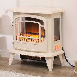 ミドルワイド暖炉型ファンヒーター(NI アイボリー) ニトリ 『送料無料・玄関先迄納品』 『1年保証』|nitori-net