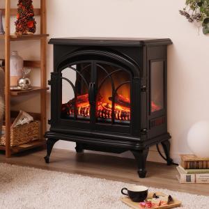 ワイド暖炉型ファンヒーター(NI ブラック) ニトリ 『玄関先迄納品』 『1年保証』|nitori-net