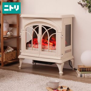 ワイド暖炉型ファンヒーター(NI アイボリー) ニトリ 『玄関先迄納品』 『1年保証』|nitori-net