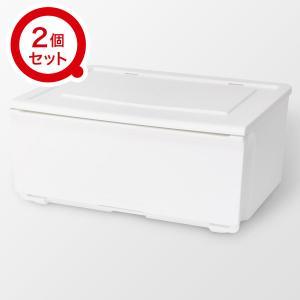 〔幅52〕収納ケース Nフラッテ(ホワイト) 2個セット ニトリ 『玄関先迄納品』