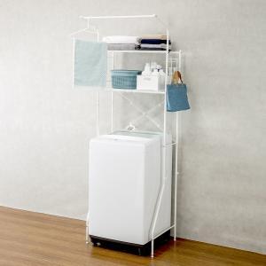 洗濯機ラック クルス(ピュアホワイト) ニトリ 『玄関先迄納品』 『1年保証』