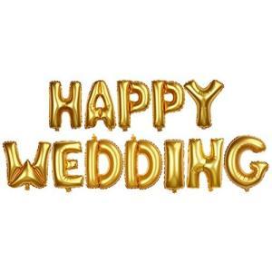 パーティーパーク HAPPY WEDDING アルファベット バルーン ゴールド 金 結婚式 ウェディング 二次会 ハッピー ブラ nitzeshop