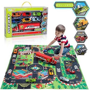 TEMI ミニカー ダイキャストカー モデルカー 合金車 電車 乗り物 おもちゃ プレゼント プレイマット 玩具慣性車 nitzeshop
