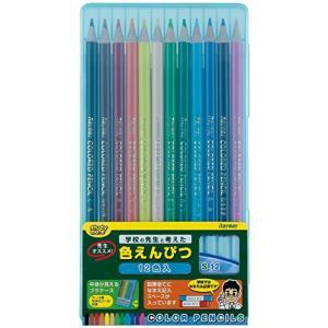 レイメイ藤井 色鉛筆 12色 先生おすすめ ブルー RE711 nitzeshop