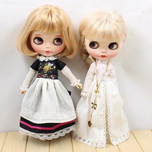 Dolly Para ブライス/AZONE/リカちゃん/桃子共通 ドール衣装  イギリス風メイド服 お姫様ドレス (お姫様ドレス)|nitzeshop