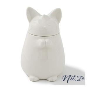 加湿器 招き猫 陶器製 「セラミック ディフューザー」 ホワイト 静音 インテリア 省エネ|nitzeshop