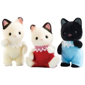 Calico Critters Tuxedo Cat Triplets by Calico Critters [並行輸入品]|nitzeshop
