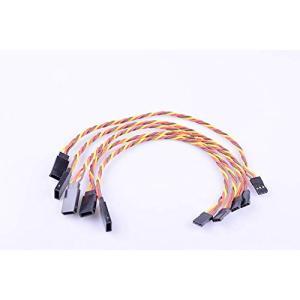 Hengfuntong-Elec 5pcs サーボハブ延長リード線ケーブル 5pcs Servo twister extension cable JR male to Female 22awg 300mm with hook|nitzeshop