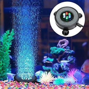 Clausアクアリウム エアストーン ミニ気泡ストーン 水槽用空気石 6LED水槽ライト付き 酸素補給 水槽装飾 観賞魚|nitzeshop