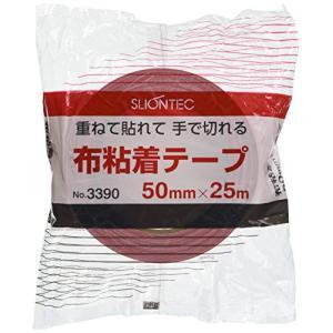 スリオン カラー布粘着テープ50mm レッド 339000RD0050X25|nitzeshop