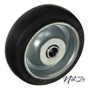 OH プレスキャスター 車輪のみ ゴム車 100mm OH35M100|nitzeshop