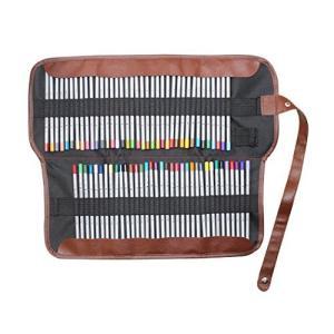 Gullorレトロ挿入キャンバススケッチ描画鉛筆ラップポーチケースホルダー収納袋をロールアップ - 72色を nitzeshop