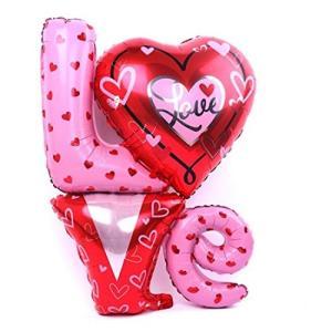 パーティーパーク LOVE アルミバルーン 特大サイズ 飾り付け 誕生日 お祝い 二次会 結婚式 パーティー デコレー nitzeshop