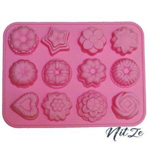Kondolen シリコン型 フラワー レジン キャンドル 手作り石鹸に (ピンク)|nitzeshop