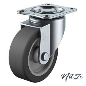 ユーエイキャスター:Sシリーズ SG型 自在キャスター エラストマー車 車輪径φ100 メーカー型式:SG-100EL|nitzeshop