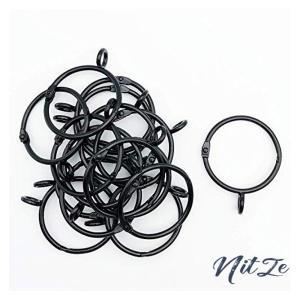 シャワーカーテンリング スライドリング 開口設計 カーテンリングフック 内径38mm 20個入 黒|nitzeshop