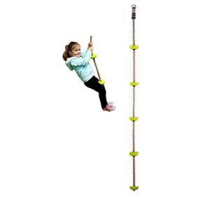 COMINGFIT〓 五つノート 室内 外遊び アウトドア 登山 登り用練習 子供ノットロープ クライミングロープ (グリーン nitzeshop