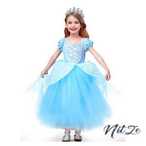 CQDY シンデレラドレス キッズコスチューム コスプレ 衣装 仮装 子供ドレス Cinderella プリンセスドレス ガールズ|nitzeshop
