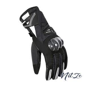 オートバイの手袋 バイク用グローブ レーシング手袋 オートバイグローブ タッチパネル対応 防水 防風 防寒 サ|nitzeshop