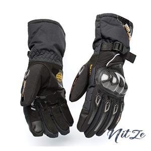 オートバイグローブ カーボンファイバー モーターバイク用 防水 アウトドア用品 防風保護 レーシング 競技用|nitzeshop