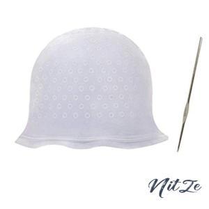 毛染めキャップ 髪染め用ヘアキャップ シリコン製 ヘアカラー ヘアキャップ 再利用可能 自宅でヘアカラー 染|nitzeshop