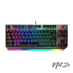 ASUS ゲーミングキーボード X802 STRIX SCOPE TKL/SV/JP FPS向け クイックトグルスイッチ 【銀軸】 nitzeshop