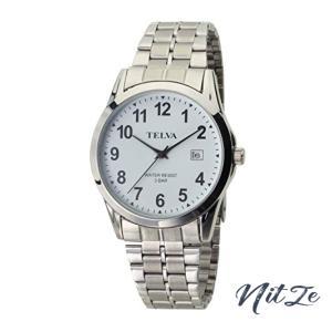 [クレファー] 腕時計 アナログ 防水 日付 メタルバンド 薄型 TE-AM187-WTS メンズ シルバー|nitzeshop