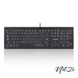 ぺリックス PERIBOARD-324 US 有線バックライト付キーボード ハブ2個 パンタグラフキー採用 薄型 フルサイズキーボ nitzeshop