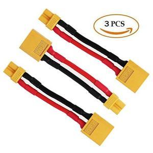 FLY RC 3pcs XT60オスXT30メスコネクターアダプターTurnigyドローンXT30 XT60 FPVケーブル16awg 50mm nitzeshop
