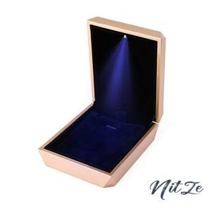 iSuperb 正方形 ペンダントボックス LED 指輪ケース ピアス イヤリング ネックレス 指輪 ブレスレット 収納 サプラ nitzeshop