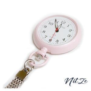 クリップナースウォッチ 蓄光タイプ ピンク|nitzeshop
